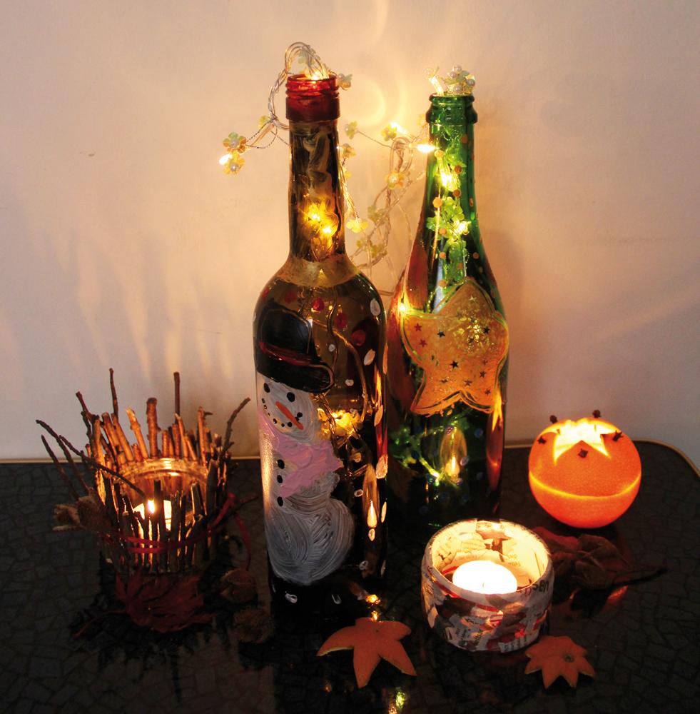 Leuchtende Flaschen Erstellen Kingkalli